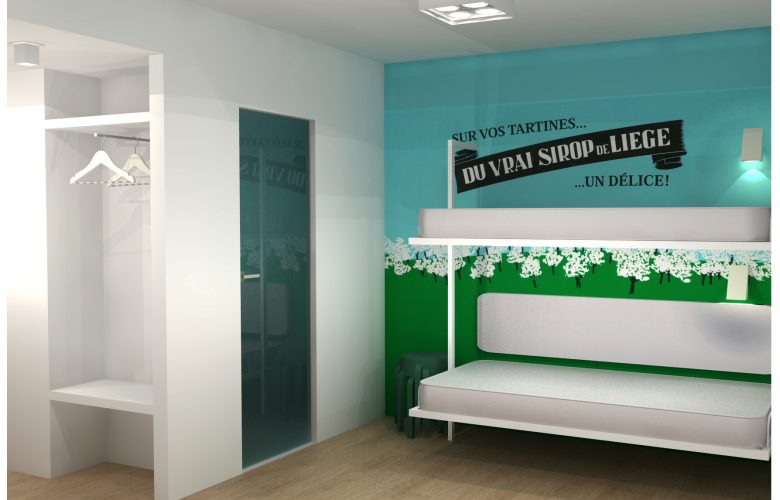 photo projet Hotel Liège | Concept de micro-chambres modulables