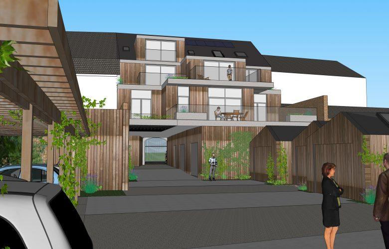 photo projet Construction de trois appartements et aménagement d'abords en parkings à Enghien