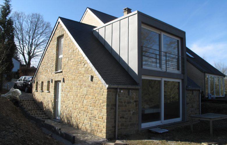 photo projet Extension d'une maison quatre façades à Daverdisse