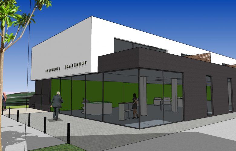 photo projet Construction d'un immeuble mixte de 2 logements avec une pharmacie